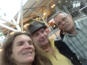 Surprise at the Vancouver airport, Mike and I taking off to cHina on the same day!