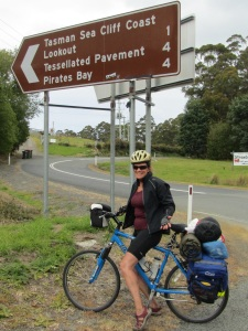 Monster hill on the way from Port Arthur back to Dunalley...awesome! best, biggest hill so far...