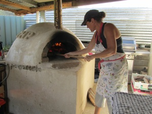 I am in love with the pizza oven!